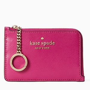 NWT~KATE SPADE~Staci Medium l-zip Card/Key Holder